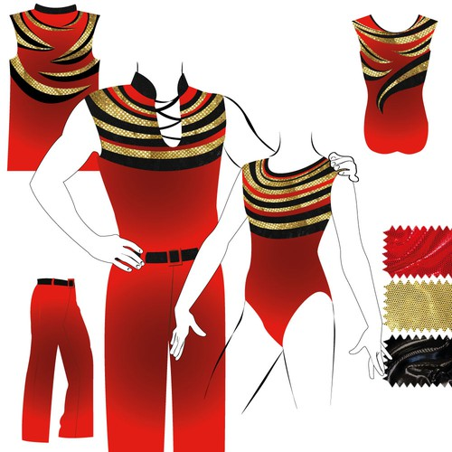 dance costumes for Acrobatic Rock'n'Roll
