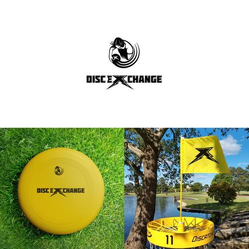 Cool modern logo for a disc golf website