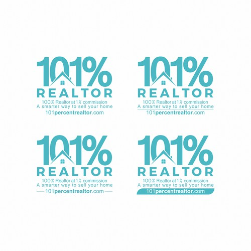 Logo concept for 101% REALTOR