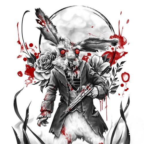 conejo zombi