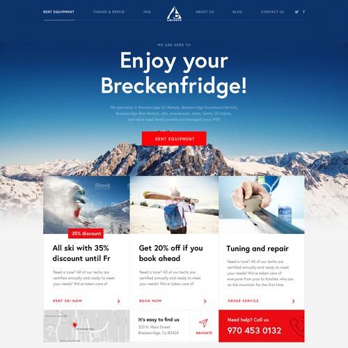 Webdesign for Breckenfridge