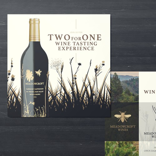 Two for One Wine Tasting Experience card