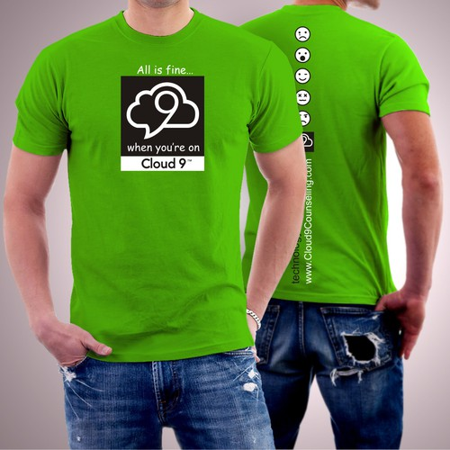 Cloud 9 t-shirt - mental health technology startup company