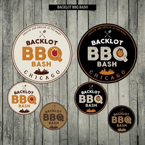 Logo para evento de BBQ em Chicago, EUA