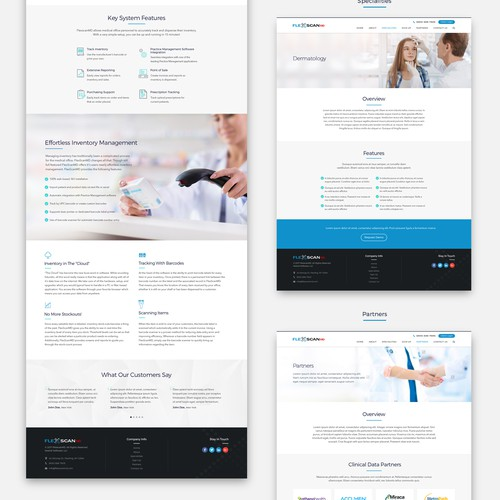 website design for FlexscanMD
