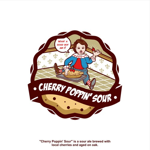 Logo Concept for Cherry Poppin' Sour