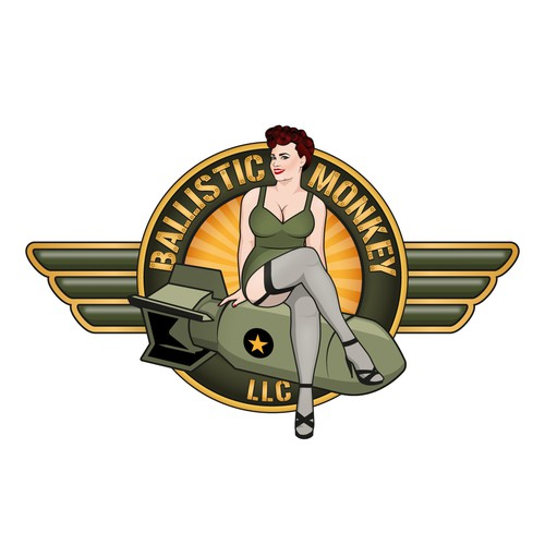 Logo design with a curvy Pin-up