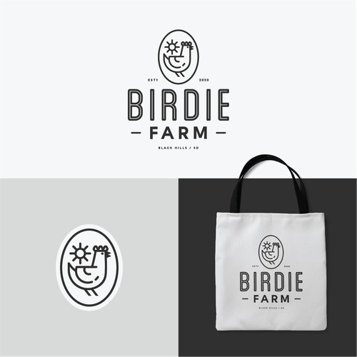 Bold Farm design for Birdie Farm