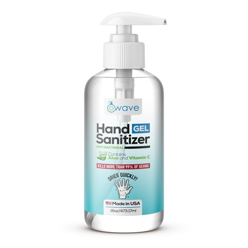Hand Sanitizer bottle for Wave