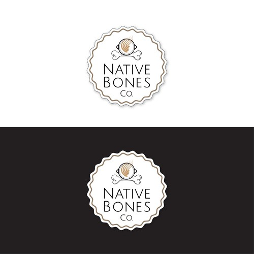 Logo concept for bone broth product