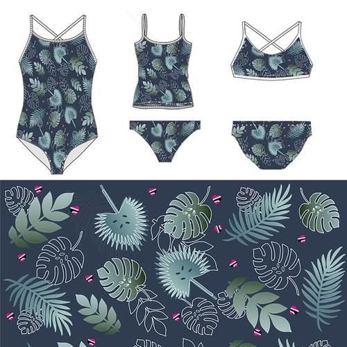 Swimsuit pattern design