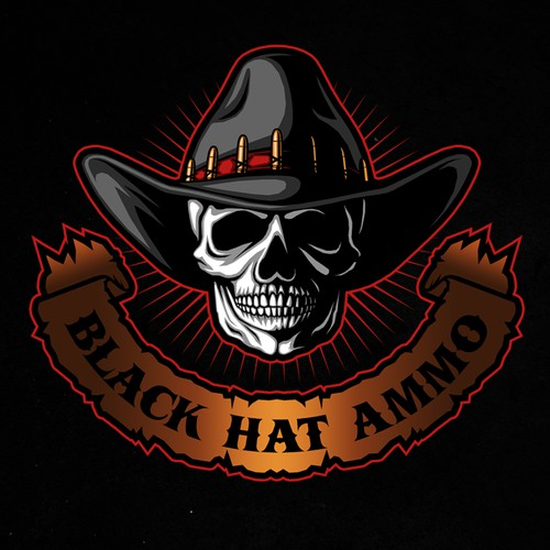 Logo design for Black Hat Ammo