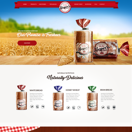 Attractive design for bread company