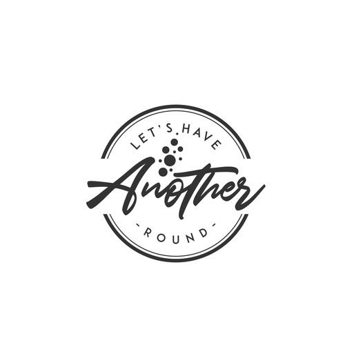 Round logo concept for boozy