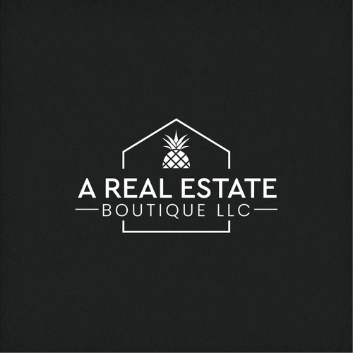 Clean logo for real estate company