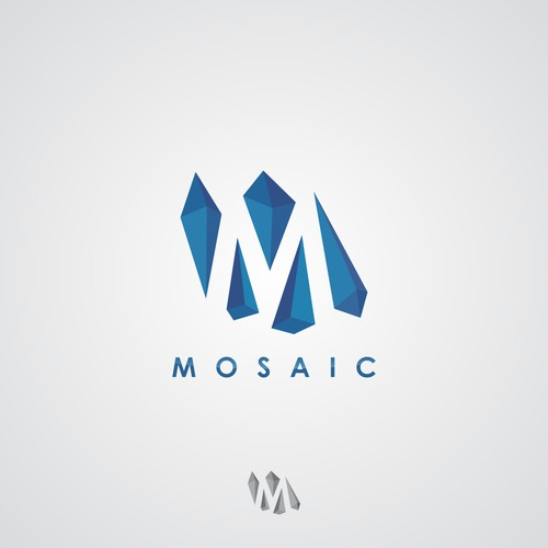 Create a logo from mosaic pieces for our new marketing firm