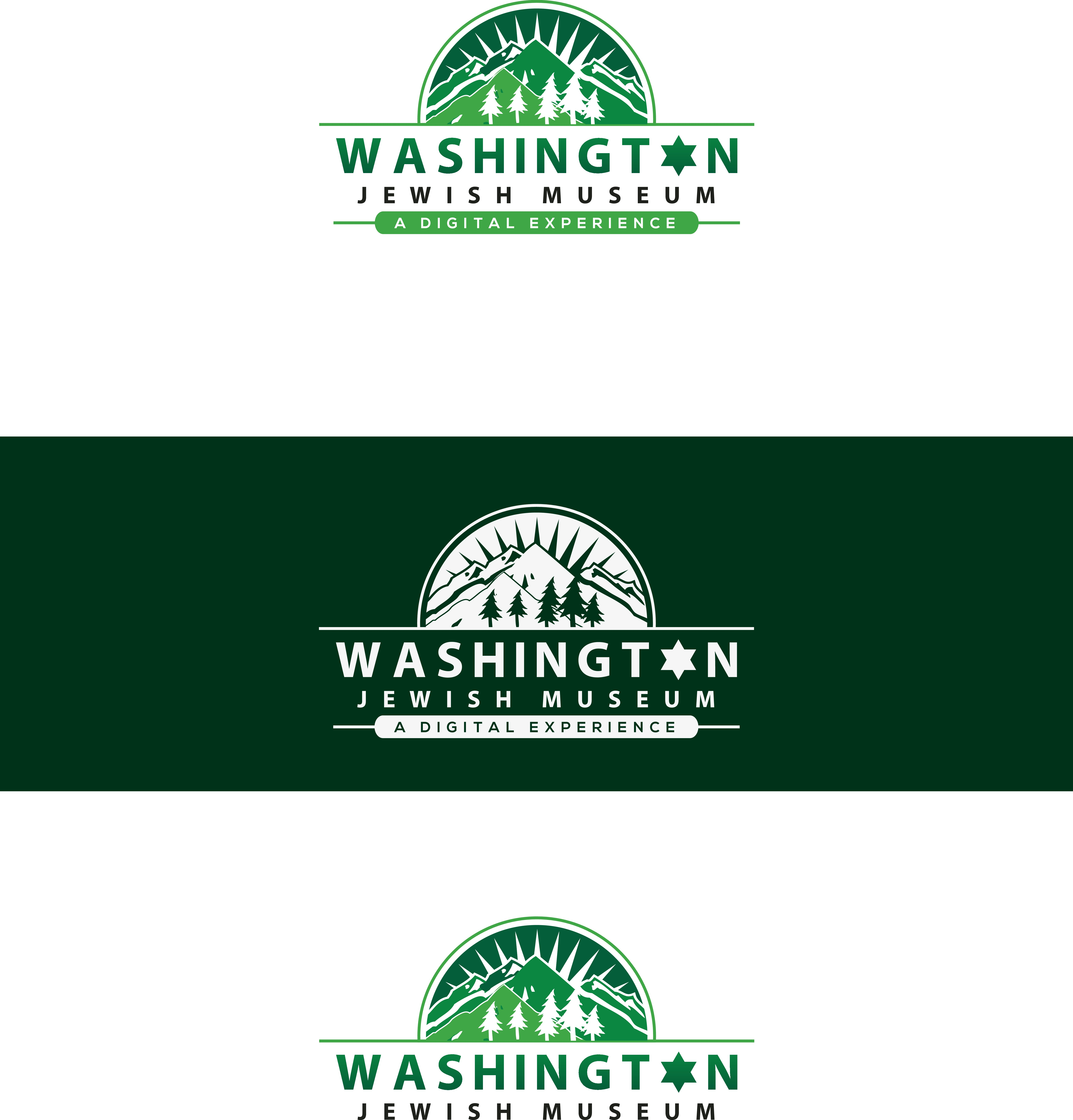 Create a modern logo for the new Washington Jewish Museum