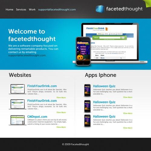 Web Template for App Developer