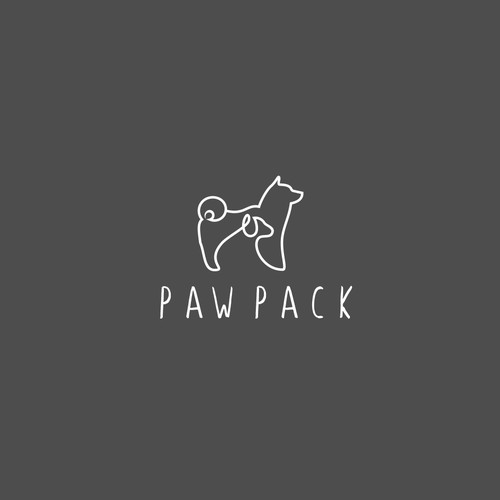 Fun, sophisticated, creative and simple logo for dog walking and grooming company