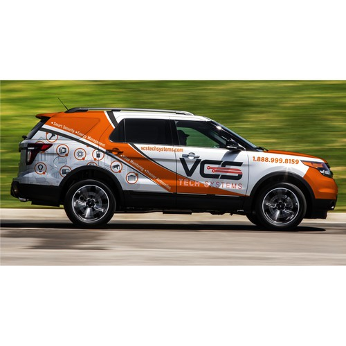 Car wrap design for VCS Tech System