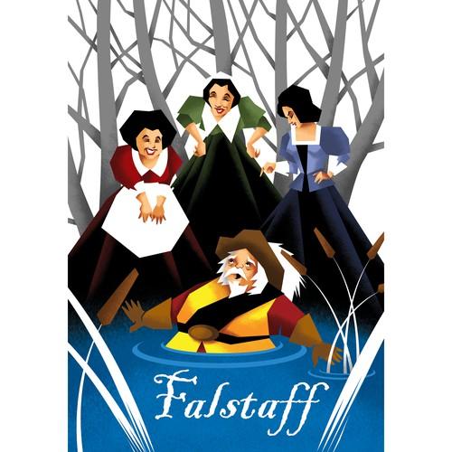 Poster illustration for Opera