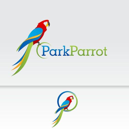 ParkParrot logo design