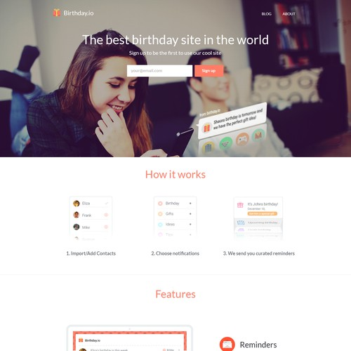 Remember Birthdays! birthdays.io