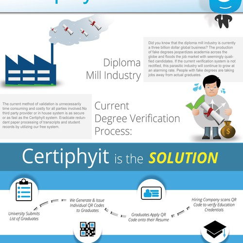 """Degree Verification Infographic / Format: 8.5""""x11"""" single or double sided"""