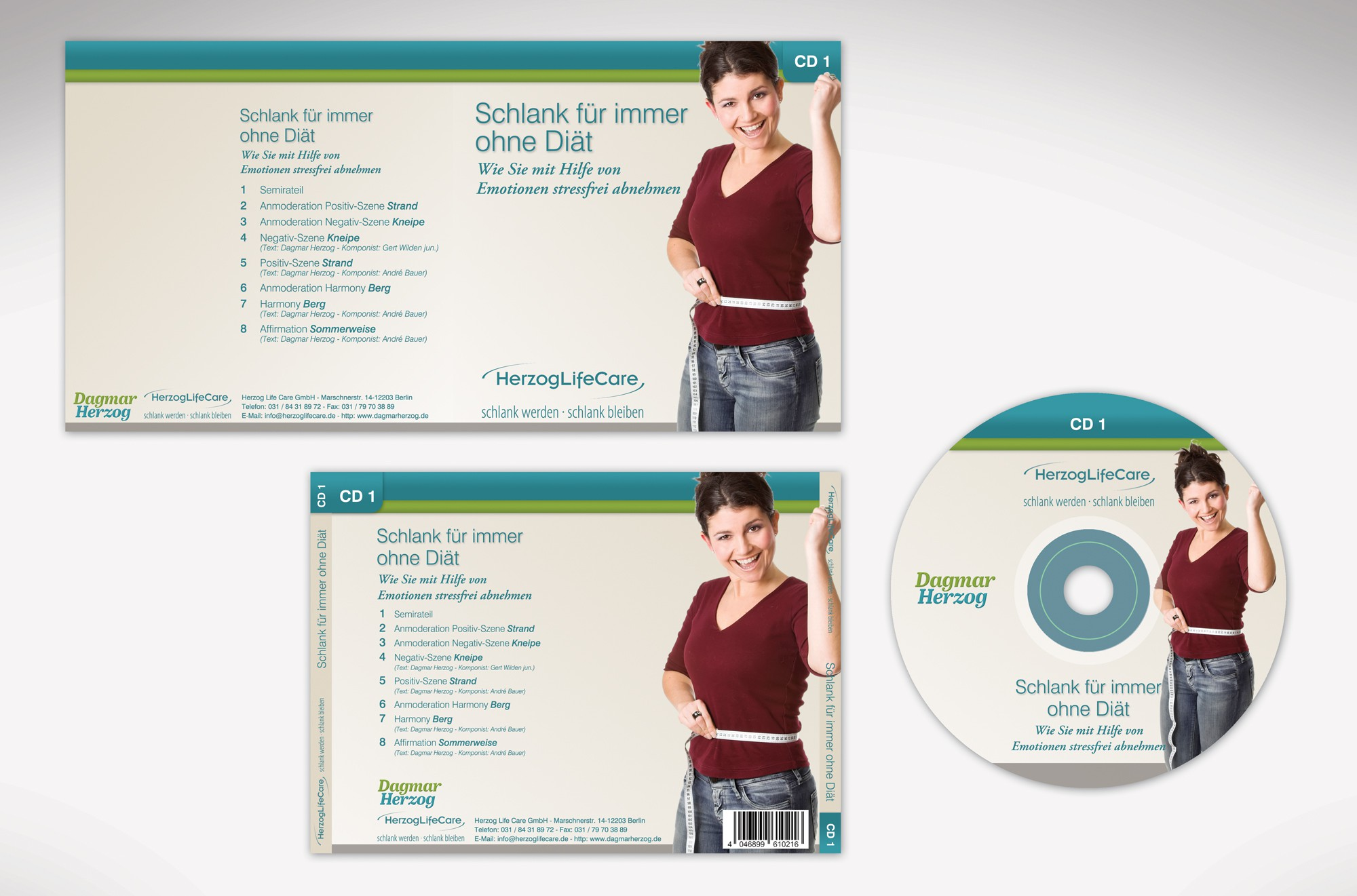 "New CD Cover Design - Successful 9 Set CD Series - ""Become slim, stay slim"" - life-changing product!"
