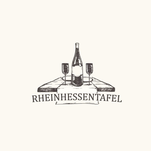 Wine-Dine old fashion logo
