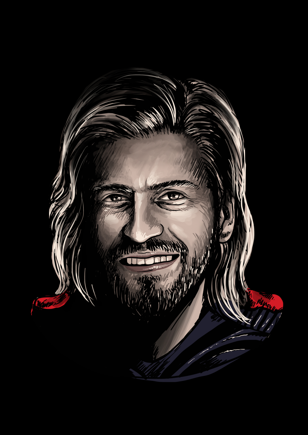 Thor Look-a-like Illustration from a friends face