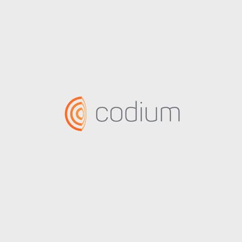 Codium Orange Bent Target Logo