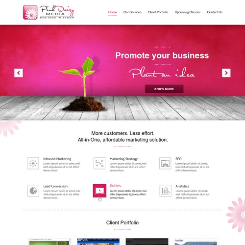 Fun, pink design needed for Web Marketing Company