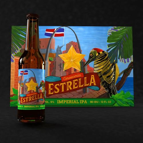 Estrella Craft Beer Label