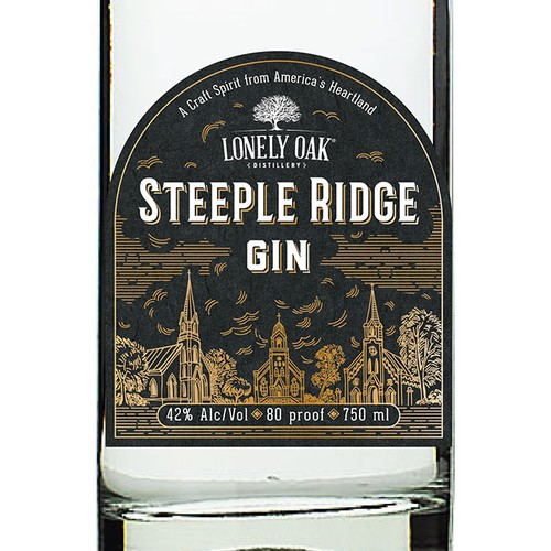 Label fo Steeple Ridge Gin