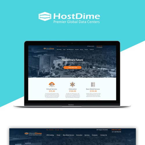 Host Dime data center web site