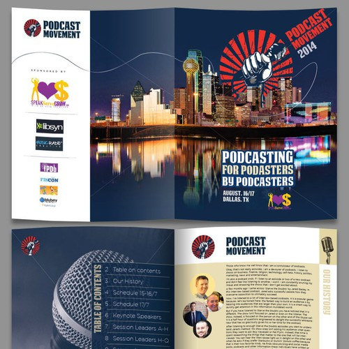 Create an amazing brochure template for an exciting conference!