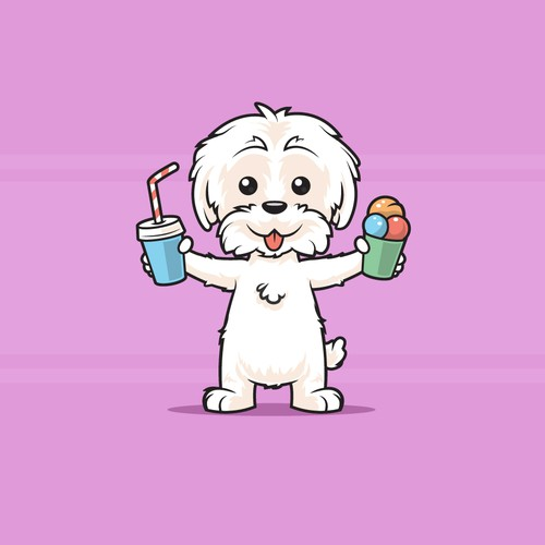 Maltese Terrier Mascot for PööLabs