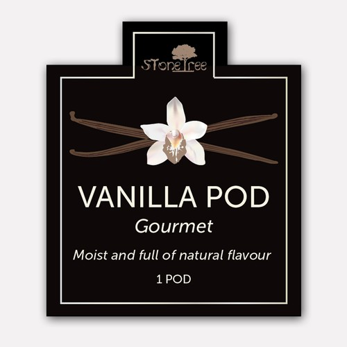 Label design concept for Vanilla Pods
