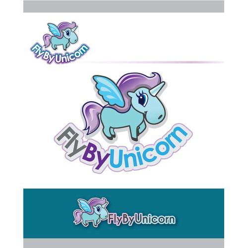 Design a logo for FlyByUnicorn a startup helping WomenInTech- women designers encouraged