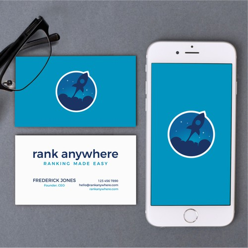 Modern logo design for Rank Anywhere