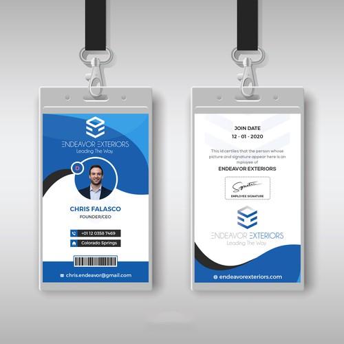Identity Card Design.