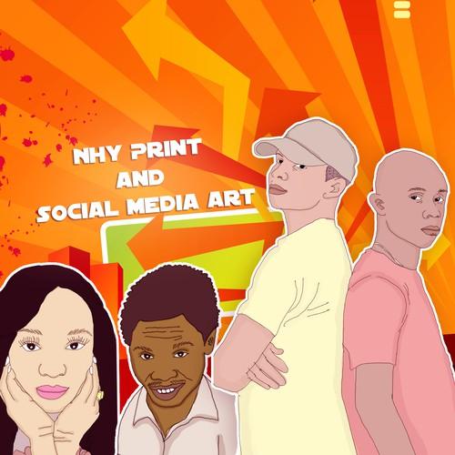 NHY Print and Social Media Art