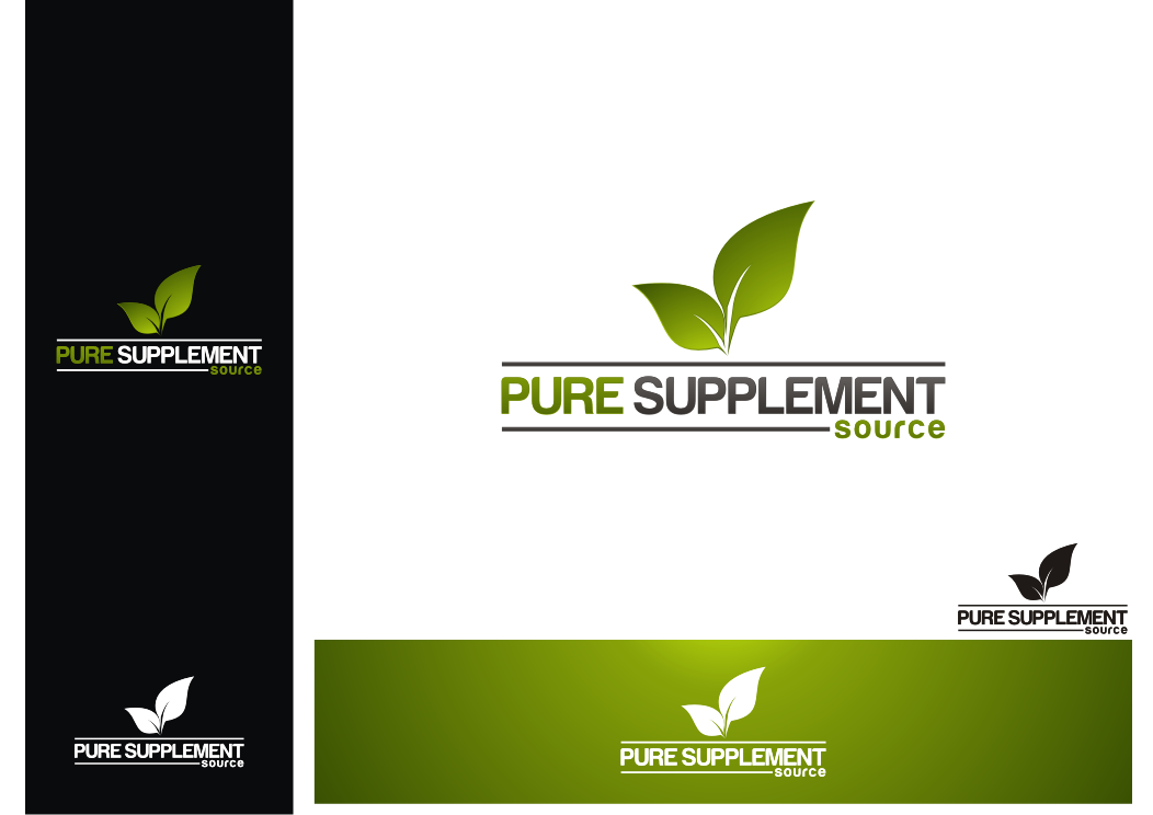 AWESOME SIGN LOGO for Pure Supplement Source