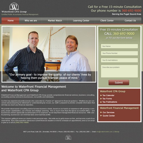 website design for Waterfront CPA Group