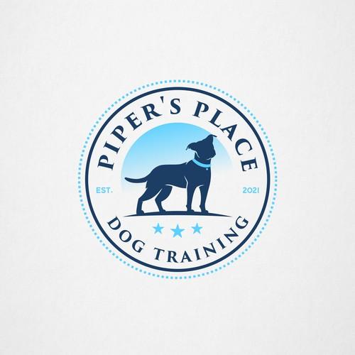 Logo for a dog training business