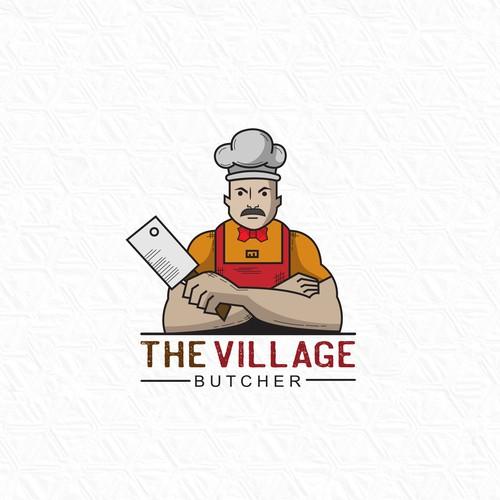 THE VILLAGE BUTCHER shop LOGO