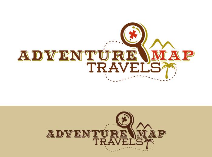 Create the next logo and business card for Adventure Map Travels™