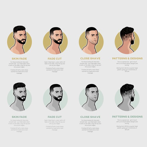 Descriptive Illustration for Barbershop Website