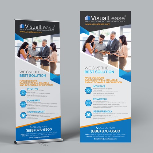 Visual Lease - 2 pop-up banners